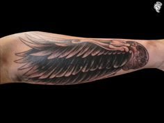 Angel Wing Tattoo On Forearm | Arm Wing Tattoo