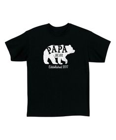 7d8e0bf4 Black 'Papa Bear' Personalized Tee - Men's Regular Mens Tees, Bear, Cotton