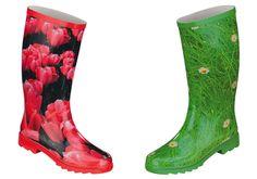 """Originelle Stiefel von ConWay für Frauen die u.a. Gartenarbeit lieben. Mit unserer """"Tulpe"""" und """"Gänseblümchen"""" bleiben Ihre Füße sicher trocken und Sie werden auch lange Freude an diesen stylischen Gummistiefeln haben. Auch 2013 begleiten uns solch trendige Stiefel durch den Alltag. ConWay, Damen Gummistiefel – Tulpe – Rot; & ConWay, Damen Gummistiefel – Gänseblümchen – grün;"""