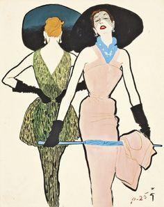 René Gruau illustrations auction at Christie's London - Fashion Galleries - Telegraph