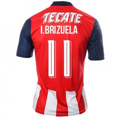 Guadalajara Chivas 16-17 Season Home  11 Brizuela Soccer Shirt Guadalajara  Chivas 16-17 Season Home  11 Brizuela Soccer Shirt 0d6537563