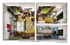 Gallery of Architecture On Screen: Illustrated Plans From 6 Award-Winning Films of 2017 - 8
