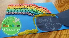 Easy Rainbow Craft for Kids to Make for St. Patrick Day #stpatricksday  Could also use w/o the pot to teach about the rainbow and God's promise