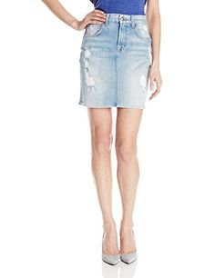7 For All Mankind Womens Mid Length Pencil Skirt Light Sky 28 *** Want additional info? Click on the image.