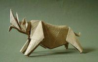 Origami diagram of the Rhinoceros