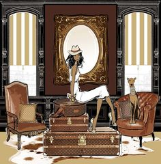 megan hess fashion illustrations | louis vuitton room, megan hess | Fashion Illustration | Pinterest