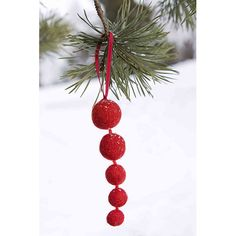 Designed in Finland, these are made by in Nepal by women receiving fair wages, working conditions, heath care and equal treatment. A good-looking and feel-good decoration to get you in the true Christmas spirit. Feel Felt Red Icicle Ornament - $7