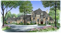Gatlingburg House Plan: 3 story, 6291 square foot, 5 bedroom, 6 full bathrooms