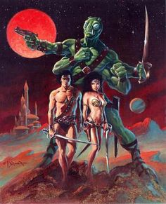 John Carter, Warlord of Mars.  The novels not that movie crap.