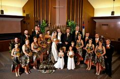 Lol more of our awesome friends sending us more m and m wedding ideas...camo and blaze orange ;)