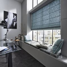 The ready-to-use systems are a wonderfully uncomplicated solution for efficient privacy screening. #blinds #interior