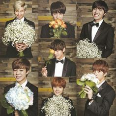 Bts with flowers❤️