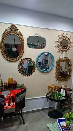 muebles y objetos vintage reciclado de mobiliario vintage living u lluch pared de espejos