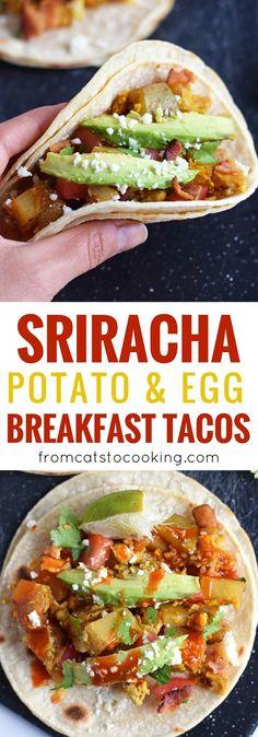 These Sriracha Potato & Egg Breakfast Tacos are the perfect brunch ...