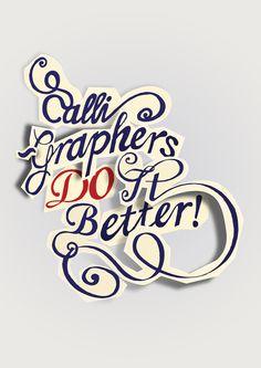 Calligraphers do it better! Ha, neat! Work by Sergio Jimenez