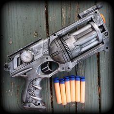 Steampunk Gun Nerf Maverick N-Strike Victorian Gothic Zombie Vampire killer soft dart toy