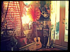 my homey little hippie room :) -the lighting was absolutely beautiful today...
