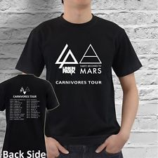 linkin park carnivores tour t shirts | Linkin Park LP 30 Seconds to Mars Carnivores 2014 Tour Date T Shirt S ...