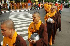 visit the largest Vesak Day celebrations at the Borobudur temple  street
