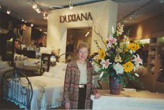 Former owner, Lynn Ripley in our old location (2 doors up). Because every 20 years, we move 2 doors down! :)