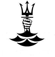 Neptune Trident Poseidon Symbol, Poseidon Tattoo, Trident Logo, Trident Tattoo, Dark Art Drawings, Tattoo Drawings, Future Tattoos, Tattoos For Guys, Leg Tattoos