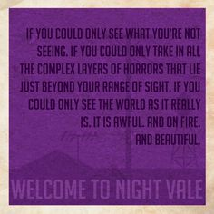 And beautiful. I don't watch/read Night Vale, but there are some good quotes out there from it. <--- this is one of the reasons I'm in love with Night Vale because of how brilliant and beautiful it can be. John Barrowman, Night Vale Quotes, Night Vale Presents, Some Good Quotes, Glow Cloud, The Moon Is Beautiful, Beautiful People, Cleaning Day, First Love