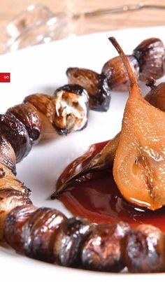 Grilované kaštany a recepty. Panna Cotta, Sausage, Meat, Ethnic Recipes, Food, Dulce De Leche, Sausages, Essen, Meals