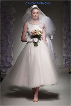 Stunning 60s style 'Candy' wedding dresses