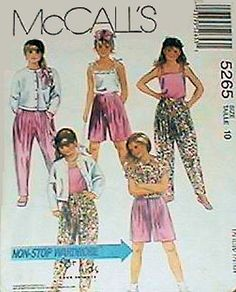McCall's 5235 Girls Complete Wardrobe Sewing Pattern Size 8 #McCalls