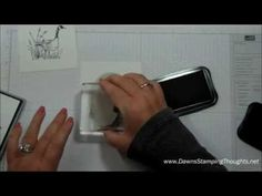 Dawns Stamping Studio: Masking~ Thinking of you card video using Wetlands stamp set