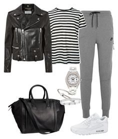 """Outfit #453"" by valeriatrav ❤ liked on Polyvore featuring NIKE, Proenza Schouler, Yves Saint Laurent, H&M, Rolex, Jules Smith and Cartier"