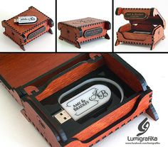Personalised USB Flashdrive and Matching Timber Box Amy, Mantle, Special Events, Flash Drive, Snug, Albums, Desktop, Archive, Art Deco
