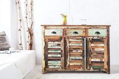 ~༺ Postarzana komoda Soltero-I China Cabinet, Cabinet, Furniture, Interior, Dresser, Solid Wood, Solid Wood Furniture, Home Decor, Deco