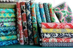 MUST make a quilt out of these fabrics! Amy Butler Lark collection