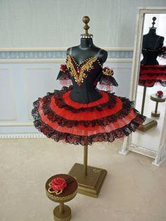 A miniature tutu handmade/ Miniature Ballet Costume/'Don Quixote' Kitri