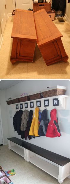 DIY Mudroom Bench from an Old Coffee Table . Call today or stop by for a tour of our facility! Indoor Units Available! Ideal for Outdoor gear, Furniture, Antiques, Collectibles, etc. 505-275-2825