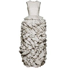 Grey ruffle dress, £199.99, H&M Exclusive Conscious Collection
