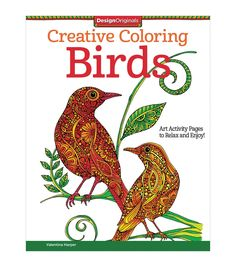 Adult Coloring Book Design Originals Creative Birds