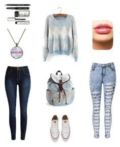 """"""" fashion 320 """" by veronicaleigh777 on Polyvore featuring Converse, Aéropostale, LASplash, Bobbi Brown Cosmetics, women's clothing, women, female, woman, misses and juniors"""