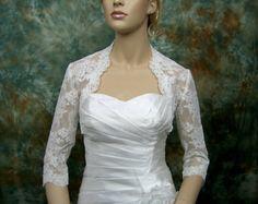 Sample Sale Bridal Shrug Tulle Rosetto Bolero by crochetbutterfly