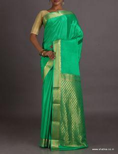 Malati Green Ornate Pallu #MysoreSilkSaree