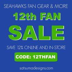 Seattle Seahawks   12th Fan   12th Fan   Go Hawks