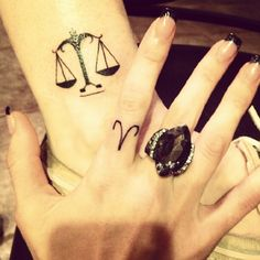 51 Irresistible Libra Tattoos (With History & Meaning) - Beste Tattoo Ideen Dog Tattoos, Mini Tattoos, Tatoos, Photomontage, Harmony Tattoo, Freedom Symbol Tattoo, Libra Sign Tattoos, Small Hand Tattoos, Tattoo Designs And Meanings