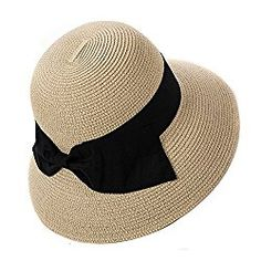 cc432567 SIGGI Womens UPF50 Foldable Summer Sun Beach Straw Hats accessories Wide  Brim === SEARCH