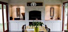 Indoor braai rooms almost essential to some SA home buyers Outdoor Rooms, Fireplace Design, Bedroom Built Ins, Indoor Fireplace, Indoor Painting, House Blueprints, Indoor Decor, Indoor, Built In Braai