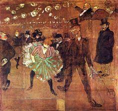 Henri de Toulouse-Lautrec. La Goulue Dancing with Valentin-le-Desosse - a 150 años de su nacimiento (24 de noviembre de 1864 - Château Malromé, Saint-André-du-Bois, 9 de septiembre de 1901) pintor y cartelista francés, ícono post-impresionista - retrató como nadie supo hacer la noche parisina de finales del XIX: teatros, cafés, burdeles, cabarets y sus personajes... gran cronista de su época - y una compleja vida que alimentó uno de los mayores mitos de la Historia del Arte.