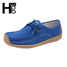 HEE GRAND Comfortable Women Good Leather Shoes Breathable Solid Lace-up Loafers Square Toe Women Flats Spring & Autumn XWC307