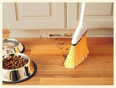 A project that I would love to do is to install a toe kick dust pan in the kitchen and in the master bath.  This is definitely a project that would make my life so much easier!     Love this!