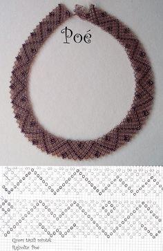 Tászli gyorsan egyszerűen Beading Projects, Beading Tutorials, Coral Jewelry, Beaded Jewelry, Collar Indio, Crochet Necklace, Beaded Necklace, Necklace Tutorial, Beaded Collar