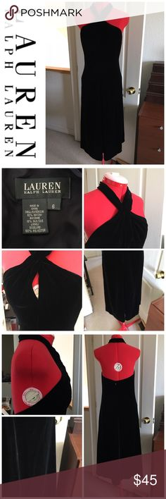 Lauren Ralph Lauren blk velvet keyhole dress Brand new, never worn; no tags. Great holiday dress! PLEASE, REASONABLE OFFERS ONLY!  -Smoke and pet free - If its $10 or under, I WILL NOT accept offers. -I do not model anything; everything looks different on everyone and I don't wasn't too Jade that. I will put the item on a dress form or find factory pics and provide measurements. -NO HOLDS, NO TRADES, POSH RULES ONLY! Lauren Ralph Lauren Dresses